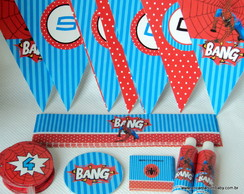 Kit papelaria personalizada(Spiderman)