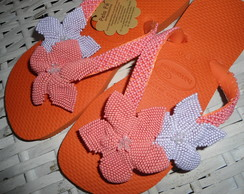chinelo havaiana bordado