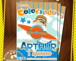 Capa Revista Colorir Aviador - Arte