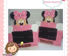 Porta retrato Minnie Rosa/Marrom