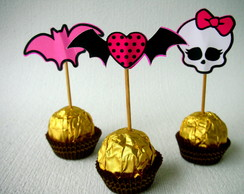 Tags para doces Monster High