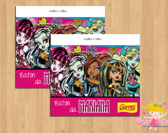 Rótulo Monster High para Chocolate Baton