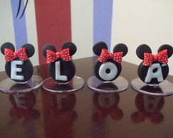 Mini topos letras Minnie