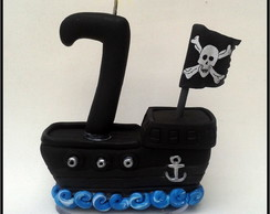 Mini navio pirata by Liliartes