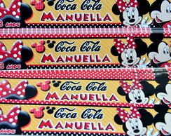 Rótulo Coca Cola mini mickey e Minnie