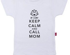 Body infantil Keep Calm and Call Mom
