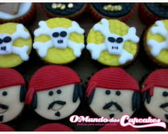 Mini Cupcake Piratas do Caribe