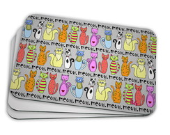 Mouse Pad Gatos- Meow