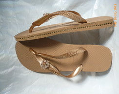 havaiana top rose gold 39/40