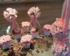 db2332252 kit festa prata & rosa-bebê I no Elo7 | Rosamorena Artes Florais ...