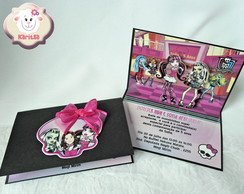 Convite Monster High Pop Up