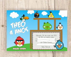 Arte Digital - Convite Angry Birds