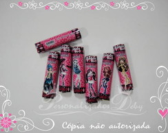 30 adesivos baton MONSTER HIGH
