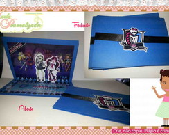 Convite POP UP (3D) - Monster High