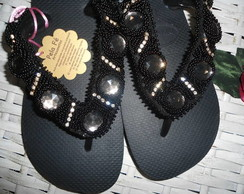 chinelo preto top havaiana