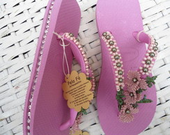 chinelo havaiana top bordado