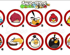 Topper Angry Birds Plaquinha Doces