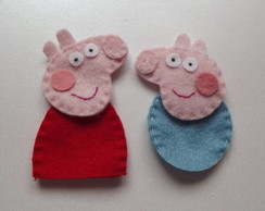 Lembrancinha Peppa Pig - Dedoches
