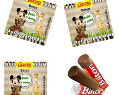 Rotulo Chocolate Batom Mickey Safari
