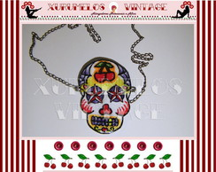COLAR SKULL MEXICAN FIRE
