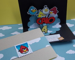 Convite Angry Birds [pop-up]