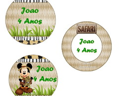 Rotulo Latinha Mint To Be Mickey Safari
