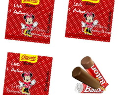 Rotulo Chocolate Baton Minnie