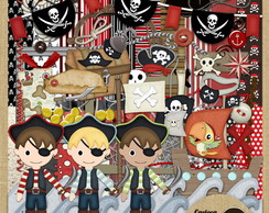 Kit para Scrapbook 256 Piratas