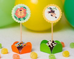 Toppers para Doces Festa Safari