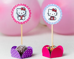 Toppers para Doces Festa Hello Kitty