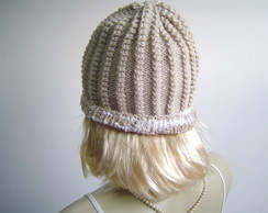 Gorro ponto Russo Borda Decorada