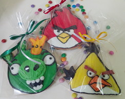 25 Bolachas Decoradas angry Birds