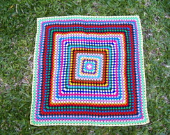 Colcha Granny Square Multi Color