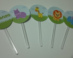 Toppers Para Doces - Safari
