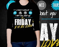 CAMISETA FEMININA 3/4 - FRIDAY IN LOVE