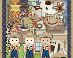 Kit para Scrapbook#269 Little Cowboy