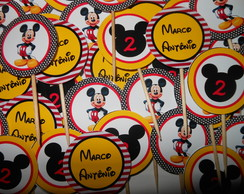 Topper Doces/cupcakes Mickey