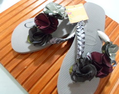 Chinelo flores