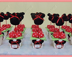 Kit 10 Centros de Mesa da Minnie