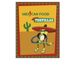 Placa MDF Mexican Tortillas - 665