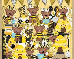 Kit para Scrapbook#279 Honey Bee Bear