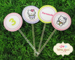 Topper Para Doces - Hello Kitty