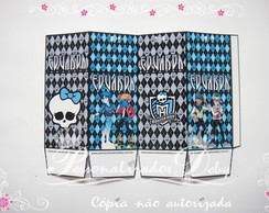 Caixa MONSTER HIGH AZUL tam P