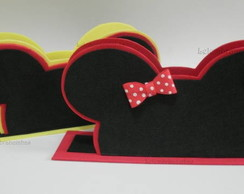 porta guardanapo do Mickey e da Minnie