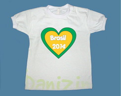 02aa91cb96 Camiseta Personalizada Feminina Copa Brasil Estampa Cheia · Boutique de  Camisetas. R  49