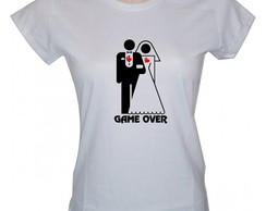 Camiseta baby look Game Over