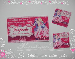 Kit etiqueta escolar BARBIE E A POP STAR