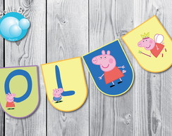 Peppa Pig Kit Varal 15 IMPRESSO DECORADO