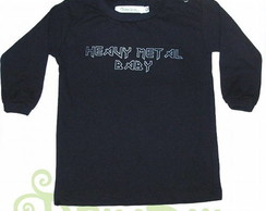 T-Shirt Bebê M.Comprida HEAVY METAL BABY