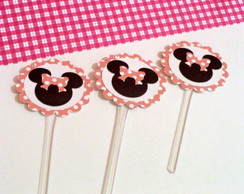 Toppers Para Doces Minnie Rosa